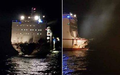 Corse : Le navire tunisien enfin libéré du porte-conteneur chypriote