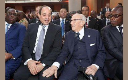 Caïd Essebsi s'affiche avec Al-Sissi à Berlin mais pas à Tunis