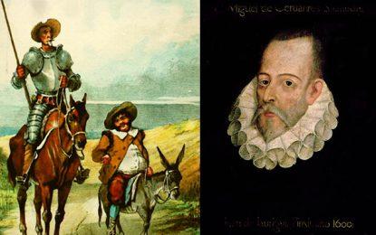 Don Quichotte et Cervantès à la Cité de la Culture de Tunis