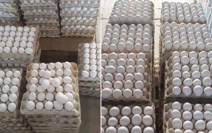 Lutte contre la spéculation : Saisie de 11.000 œufs à Monastir