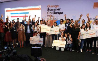 Orange Summer Challenge 2018 prime 5 projets de startups innovantes