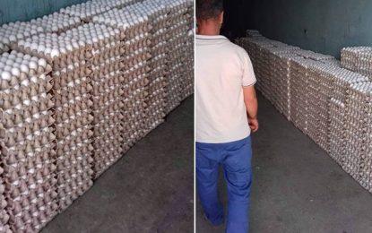 Lutte contre la spéculation : Saisie de 57.000 œufs à Radès