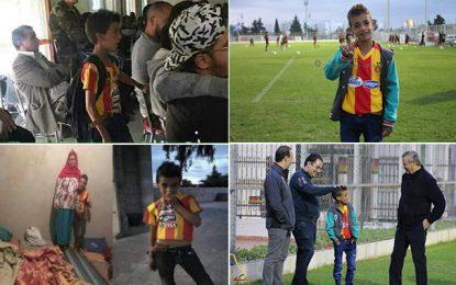 L'Espérance de Tunis réalise le rêve du petit Sofiene de Sbeïtla