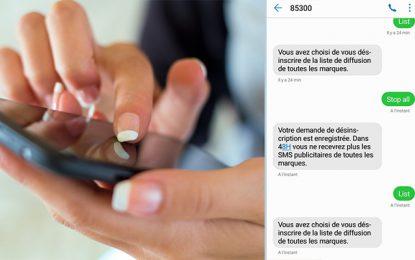 Le service pour bloquer les SMS publicitaires opérationnel au 85300