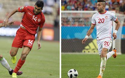 Equipe de Tunisie: Forfait de Ghailen Chaalali et Amine Ben Amor