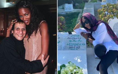 Sidi Bou Saïd : Naomi Campbell se recueille sur la tombe d'Azzedine Alaïa