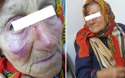 Grombalia : Une dame de 82 ans violentée par son fils et son petit-fils !