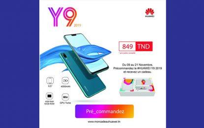 Tunisie : Le Huawei Y9 2019 disponible en précommande pour 849 DT