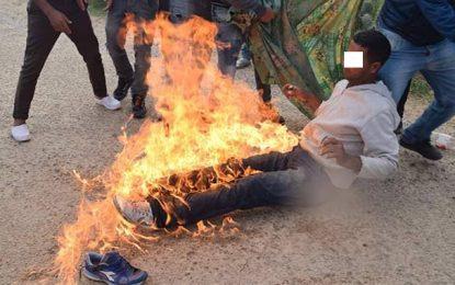 Chômage : Trois jeunes mettent le feu à leurs corps à Kairouan