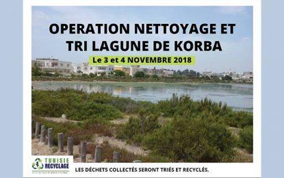 Tunisie Recyclage : Opération de nettoyage à la lagune de Korba