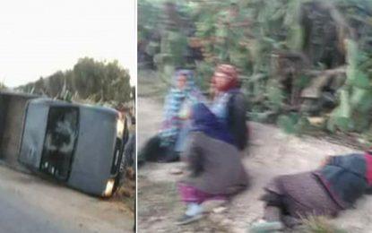 Sidi Bouzid : Quatre ouvrières agricoles blessées dans un accident