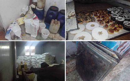 Tunis : Saisie de gâteaux pourris et 40 tonnes de farine subventionnée