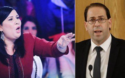 IVD : Abir Moussi porte plainte contre Youssef Chahed