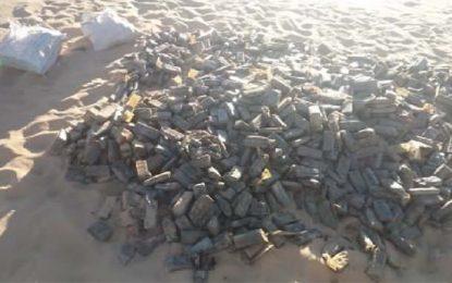 Tataouine : L'armée a découvert et déterré 370 kg de cannabis