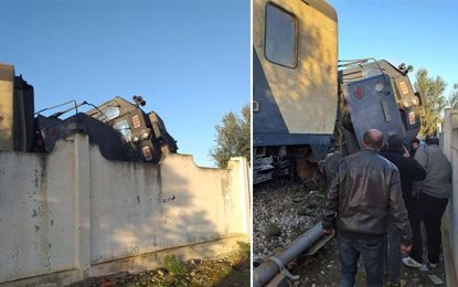 Mahdia : Déraillement d'un train près de la station de Karkar