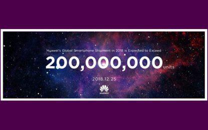 Huawei : Plus de 200 millions de smartphones expédiés dans le monde en 2018