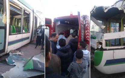 Tunis : Des blessés dans le déraillement du métro N°1 à El-Kabaria (Vidéo)