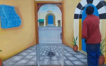 Les peintures murales d'un détenu ornent la maison de la culture d'El-Omrane