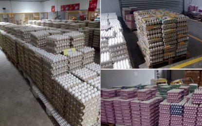 Spéculation : Un million d'œufs saisis deux jours avant le réveillon