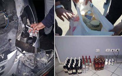 Contrebande : Saisie de 110 bouteilles de vodka et de whisky à Ras Jedir