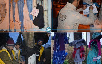Tunisie : Des manteaux accrochés dans la rue pour les démunis