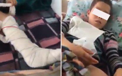 Nabeul : Il a la jambe fracturée, un élève accuse son instit de l'avoir agressé