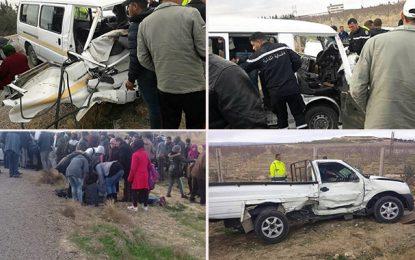 Kasserine : Deux morts et 6 blessés dans un accident à Sbiba