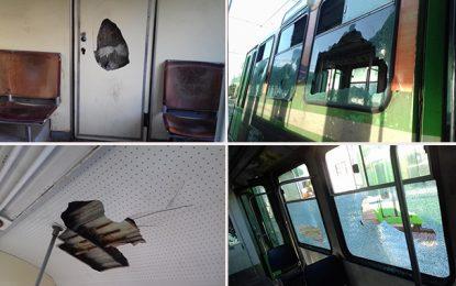 Tunis : Des inconnus saccagent des rames de métros et de trains