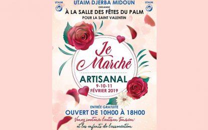 Djerba-Midoun : Le marché artisanal spécial St Valentin