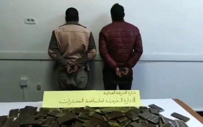 Deux militaires arrêtés en possession de 25 kg de cannabis (Vidéo)