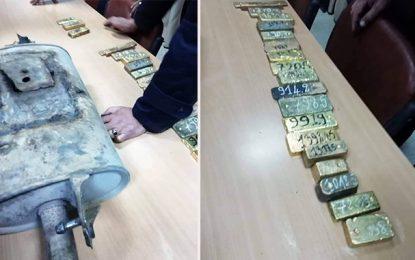 Ras Jedir : Saisie de 18 lingots d'or dans une voiture Libyenne
