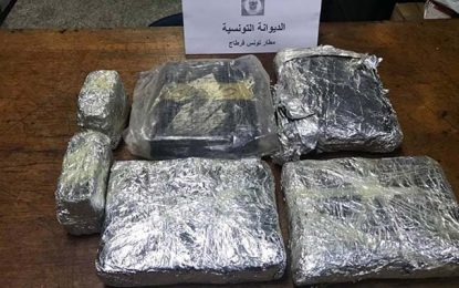 Tunis-Carthage : Un Malien arrêté en possession de 3,9 kg de marijuana