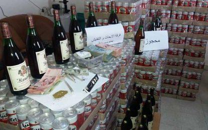 Manouba : Saisie de 3024 canettes de bières destinées à la vente clandestine