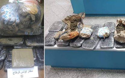 Tunis-Carthage : Saisie de 26 kg de marijuana en provenance de Conakry