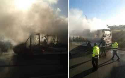 Tunisie : Encore un bus qui prend feu, le 2e en cinq jours…