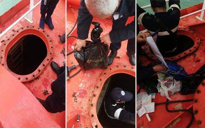 La Goulette : Drogues et cigarettes de contrebande dans un bateau italien