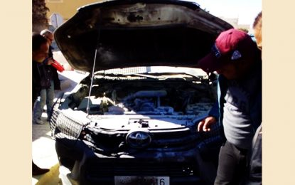 Sidi Bouzid : Il met le feu à une voiture de police à Bir El Hafey