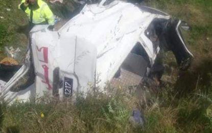 Grombalia : Un mort et 7 blessés dans un accident de la route