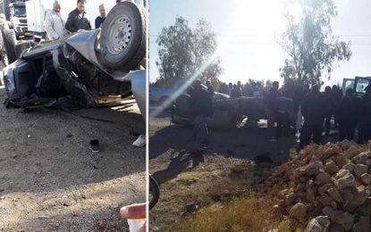 Bouhajla : Un mort et 6 blessés dans un accident de la route