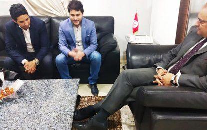 Slim Khalbous reçoit deux brillants entrepreneurs tunisiens au Canada