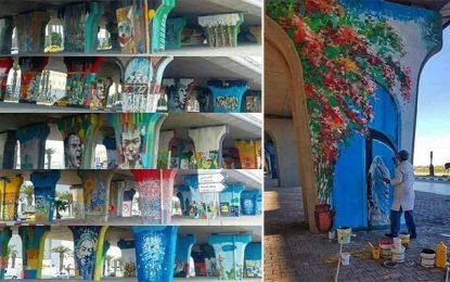 Tunis : Des artistes redonnent vie au pont de la République (photos)