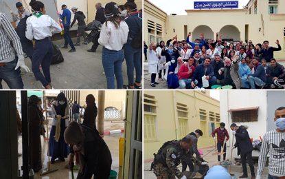 Action citoyenne : Branle-bas de combat pour nettoyer l'hôpital de Gafsa
