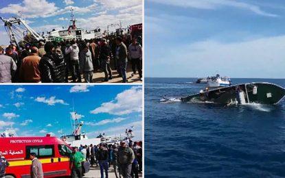 Naufrage d'un bateau à Mahdia : Onze rescapés, 1 disparu (vidéo)