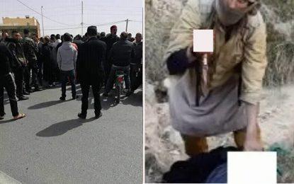 Protestation de la famille de Mokhtar, dont Daech revendique l'assassinat