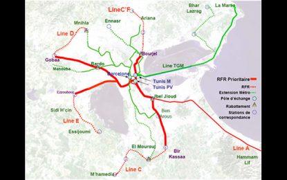 Tunis: Où en est la construction de la 1ère tranche du réseau ferroviaire rapide?