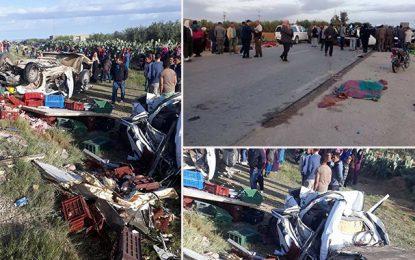 Sidi Bouzid : Un accident fait 12 morts,  dont plusieurs ouvrières agricoles, et 20 blessés