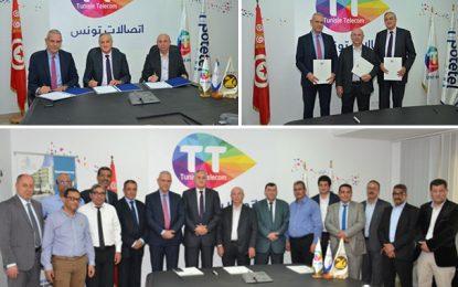 TICs : Un accord tripartite Tunisie Telecom, Sotetel et Soroubat