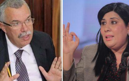 Noureddine Bhiri : «Abir Moussi a été contrainte de lever son sit-in après avoir été lâchée par ses députés»