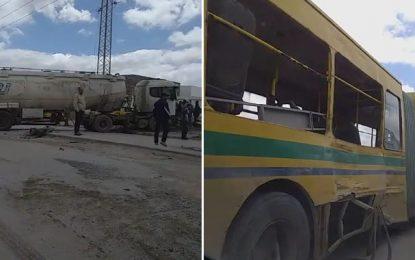 Tunis : Collision entre un camion-citerne et un bus à Megrine