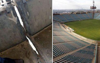 Ligue des champions : Affluence réduite pour une grosse fissure au virage du stade de Radès